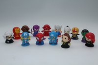 Wholesale 14 Styles Genuine cute cm Avengers Action Figures toys super hero series doll Captain America Hulk cartoon character puppet PVC toy V218