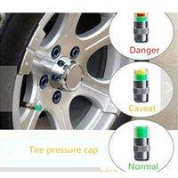 Wholesale 2 bar PSI Tire Pressure Car Tire Monitor Pressure Gauge Cap Sensor Indicator Color Eye Alert Air Pressure Gauge set