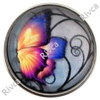 Wholesale D00889 newest noosa rivca chunk butterfly button for bracelet jewelry