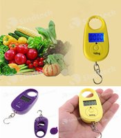 Wholesale Mini Electronic Scale Household Weighing Fishing Scales Digital Hanging Lage Pocket Portable Scale Free DHL Facotry Direct
