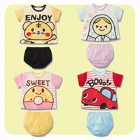 Wholesale 2 Set Summer Baby Girls Boys Outfits Short Suit Cartoon Kids Boys Clothing Sets Children Boy and Girl Suit Sets B