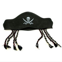 Wholesale Halloween products feature pirates hat braid Eva cap wacky props