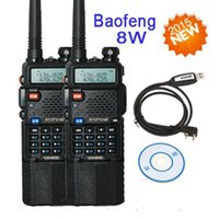 Wholesale 2PCS Baofeng walkie talkie two way radio UV8HX UV ra w transceiver UV HX Radio cable