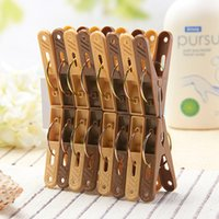 Wholesale 16 Plastic clothepins Coffee Clothes pegs clips laundry drying hanger washing accessories Novelty households