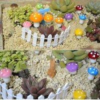 Wholesale 10 Mini Fake Mushroom for Mini Plant Pots Fairy DIY Decor Garden Dollhouse Christmas Gift LIH