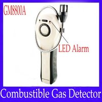 Wholesale Combustible Gas Leak Detector GM8800A with sound light alarm indication MOQ