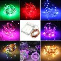 battery operated fairy lights - 4 V M Leds AA Battery Operated LED Copper Wire String Fairy Lighting for Xmas Party Wedding Decoration White red blue green pink