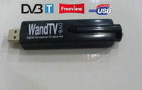 Wholesale USB DVB T RECEIVER WANDTV DVB T Digital TV Tuner Stick Support H2 Mpeg4 Mini USB Reciever Full of HD Black Color With Remote Control