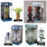 Wholesale FUNKO Wacky Wobbler STAR WARS Clone Trooper Yoda Darth Maul R2 D2 Bobble Head Figure Dolls PVC Toys For Kids