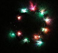 Wholesale Led Necklace Necklaces Flashing Beaded Light Toys New Dhl Christmas gift B79
