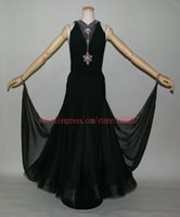 ballroom dresses uk - Black Color Modern Dance Skirt Waltz Tango Dance Competition Costumes High Quality Custom Made Women s Ballroom Dresses US UK