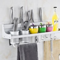 Wholesale Hot Selling Alumnium Home Kitchen Accessories Modern Knife Racks Knife Holders Easy Cleaning Storage Rack JE0074 Salebags