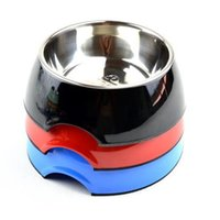 Wholesale Pet Dog Cat Bowls Feeder Dish w Stainless Steel Bowls S New