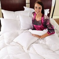 Wholesale New Arrival White Duck Down Winter Comforter Quilt Duvet Filling With Cotton Cover Twin Queen King Size