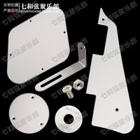Wholesale A Set White LP Guitar Pickguard Cavity Cover Switch Cover Pickup Selector Plate Scratchplate Pickguard Support Bracket
