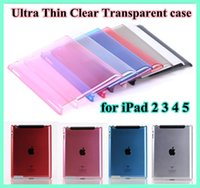 Wholesale New Ultra Thin Crystal Clear Transparent Hard PC Plastic Back Case Smart Cover for iPad mini ipad5 tablet PC