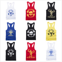 Wholesale New Bodybuilding Golds Gym Singlet Stringer Arrival Fitness Musculation Men Sun Tops Tight Sport Workout Cotton Tank Vest