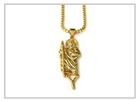 black jesus - 2016 new products plating real gold iced out chain for men jesus saint pendant necklace colares pingentes N166