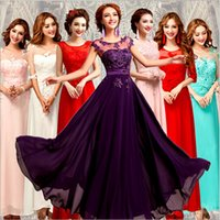 Wholesale 2015 new chiffon bridesmaid long dresses evening bridesmaid dresses cheap bridesmaid dresses under wedding party dresses