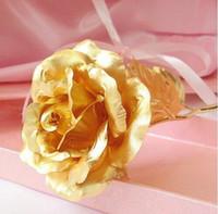 24k gold rose - 24K Inch Gold Foil Rose Best Valentine s Day Gift Handcrafted and Last Forever Bigger Rose Flower