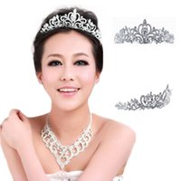 Wholesale S5Q Women s Plated Silver Crystal Crown Wedding Bridal Princess Headdress Tiara AAAEAF