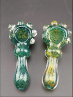 acrylic spoons - Heady thick Glass pipe water Bong for tobacco inch Hand Pipes Spoon Pipes glass bongfree shippping
