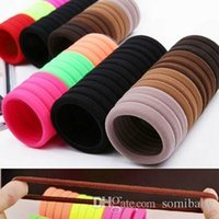 Cheap 30pcs lot Candy Fluorescence Colored Hair Holders High Quality Rubber Bands Hair Elastics Accessories Girl Women Tie Gum