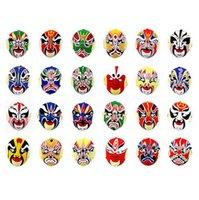 Halloween masks china opera - LP28 China Traditional Beijing Opera Mask PVC Flocking Men Women Full Face Party Mask
