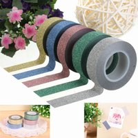 Wholesale 1PC Fashion Design M Scrapbooking Book Glitter Paper Self Adhesive Stick On Sticky Craft Decorative DIY Five Colors