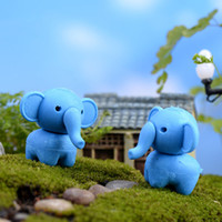 elephant figurines - 10pcs Cute Cartoon Elephant Mini garden Lawn decorative miniature fairy figurines Moss resin diy ornaments Dollhouse Accessories