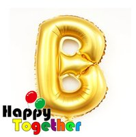 big b manufacturing - HAPPY TOGETHER Manufacture Big Size inch Gold Letter B Inflatable Helium Self Sealing Party Supplies Festival Decors Foil Balloon