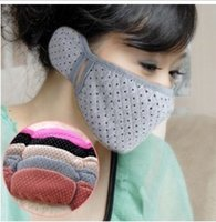 Wholesale Creative Home Supplies Stores cotton autumn and winter warm earmuffs mask mask combo guard with earmuffs