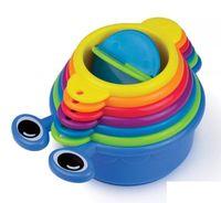 baby toy links - Hot munchkin caterpillar bath Cup set link like caterpillar stack like pillar strain like spiller Infants Baby Bath Water Fun Toys