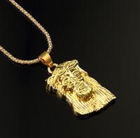 hip hop jewelry - hot sale New Hip Hop JESUS Christ Piece Pendant Necklace Gold color Men Jewelry