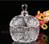 basket gift ideas - Large transparent glass candy jar Continental Canister glycoside caddy gift ideas home decoration utensils