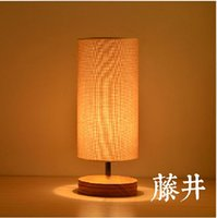Wholesale Fabric Shade And Base Wood Modern Restaurant Table LightsSimple Wooden Desk Lighting Table Lamp Lights Decoration order lt no