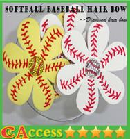 bulk order - Softball Baseball Hair Bows Team Order Bulk Listing REAL BALL You Choose Colors