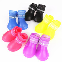 Wholesale Lefdy News DOG BOOTS Waterproof Protective Rubber Pet Rain Shoes Booties of Candy Colors