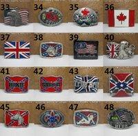 Wholesale 63 styles Confederate Southern South Rebel Flag Civil Flag Belt Buckles Civil War Flag Lebel Belt Buckles New Arrival