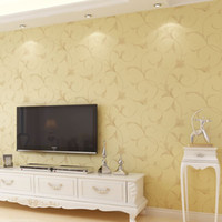 air mould - Europe Floral Acanthus Leaf Panel Non woven Wallpaper Purifying Air Glitter Photo Contact Wallpaper Mural For Livingroom Decor