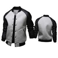 baseball high schools - Fall new mens Stylish high quality fabric Baseball jacket pocket Men s casual sport coat Club College School Jersey Cotton Team