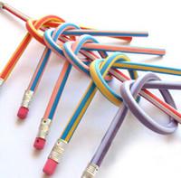 Wholesale 3000pcs a Creative Stationery Magic Soft Pencil Flexible Plastic Pencil Easily Bend Pencil