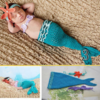 bebe sweaters - Newborn bebe clothes coveralls handmade knitted mermaid sweater newborn bebe baby Photography Props