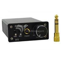 audio amplifier chip - ZHILAI H9 DC V Digital HIFI Earphone Amplifier Headphone Amp TPA6120A2 Chip Adapter Plug Power Supply Two Audio Input