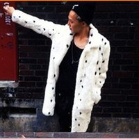 Wholesale Fall New Autumn Winter Thick Warm Men s Mink Overcoat Office High Street Casual Print Turn Down Collar Faux Fur Coat V708