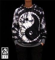 tie dye hoodies - Original hand dyed sweater men hedging hoodie TIE DYE Sew Taiji