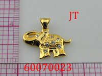 Wholesale 12pcs Women s Fashion k gold plated baby elephant pendants necklace charm for women