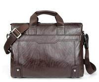 Wholesale Hot sale New Genuine Leather Men Bag Briefcase Handbag Men Shoulder Bag Laptop Bag