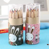Wholesale colored pencil colors kids drawing secret garden painting pens a