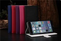 Cheap Litchi Leechee Leather Wallet Pouch case credit card For iphone 6 Air 6G 6TH iphone6 plus 5.5 inch Luxury stand holster Plastic Cover skin